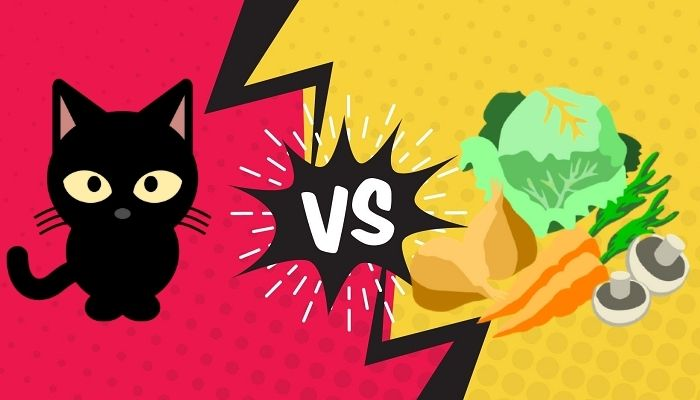 do cats eat vegetables